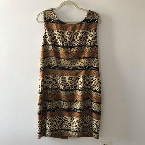 Betsy Lauren Mixed Animal Print Tank Dress